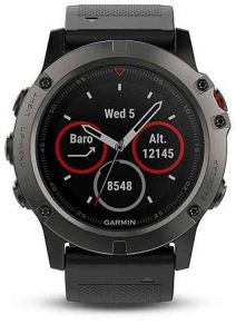 Garmin Fenix 5X Sapphire Grey Optic Black band