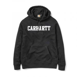 MIKINA CARHARTT Hooded College - černá - S